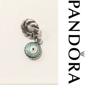 Pandora sterling silver enameled lucky eye charm
